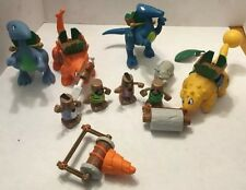 Lot Little Tikes BC Builders 4 Cavemen 4 Dinosaurs 2 Accessories