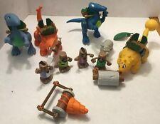 Lot Little Tikes BC Builders 4 Cavemen 4 Dinosaurs 2 Accessories