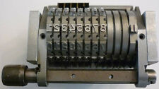 """(Y)-Offset Numbering Machine 8 Digit 1/8"""" Gothic , Forward indexing"""