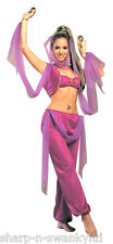 Ladies Sexy Arabian Princess Jasmine Belly Dancer Fancy Dress Costume Outfit
