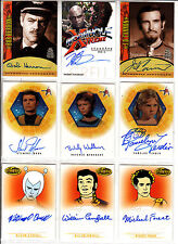 TRADING CARDS:Planche N° 15      COSTUMES,AUTOGRAPHS  divers