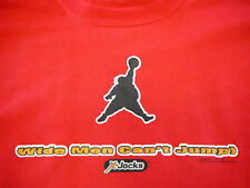 "NEW Funny JOKE X-Jocks ""WIDE MEN CAN'T JUMP"" Red Tshirt - Large"