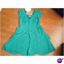 stunning bnwt Teatro turquoise layered dress size 16