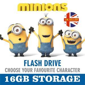 BRAND NEW 2GB,16GB USB MEMORY STICK FLASH DRIVE PEN DRIVE DESPICABLE ME MINION