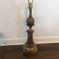 Vintage Stiffel Brass Lamp Candlestick Aladdin Genie Desk Lamp