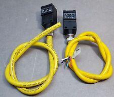 42GRU-9001-QD Allen Bradley Photo switches Sensor. Lot of 2 W/connectors (AC/DC)