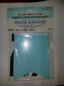 Custom Pennant Banner BLUE OR PINK Baby Shower Happy Birthday Celebrate Cheers