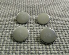 4 x Silver Tone Metal Blazer Waistcoat Buttons 19mm Vintage Gothic Steampunk