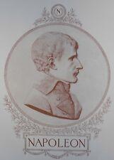1897  Antique Art Print Napoleon Bonapart as First Consul bas relief Joseph art