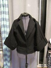HOT! Alice + Olivia Textured Black Fashion Jacket, Wide 3/4 Sleeve, Size M