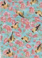 1 yd Finch  birds quilt cotton fabric birds bird 100% Cotton sewing novelity