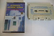 AUTHENTIC ISLAND SONGS WITH ANTONY & THALIA SPANOU K7 AUDIO TAPE CASSETTE.