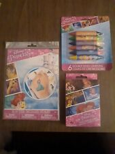New Lot Of Disney Princess Playing Cards Crayons Tatoos Great Stocking Stuffers!