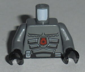 TORSO M049 Lego Space Police Gray Body Armor NEW Genuine Lego 5974