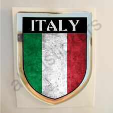 Italy Sticker Resin Domed Stickers Flag Grunge 3D Adhesive Decal Gel Car Moto