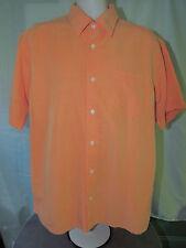 Island Republic Men's Button Front Orange Plaided Shirt Size XL