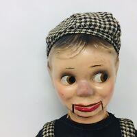 "Vintage 1930's Charlie McCarthy Dummy Ventriloquist Puppet Doll 14"" Composition"