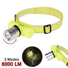 Waterproof Flashlight 6000LM T6 Diving Headlamp Head Torch Underwater Lights  BA