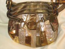 fe8e19c14a Coach Ltd Ed Mosaic Small Hobo Gold Patchwork Evening Bag  3572 EUC!