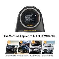 AUTOOL HUD Digital Speedometer Overspeed Alarm Engine OBD2 Code Reader MPH/KMH
