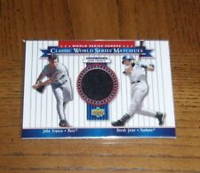 2002 UD WORLD SERIES HEROES-MATCHUPS- JOHN FRANCO-NEW YORK METS-GAME-USED JERSEY