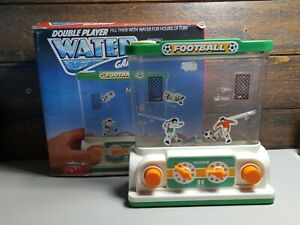 Tomy Double Player Water Games Football Vintage Hand Held Game Retro Boxed