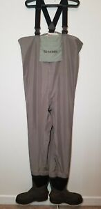 Simms Gore-Tex Bootfooted Felt Soled Fly Fishing Waders XL-Short size 12 boots