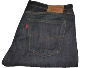 Uomo Levi's 508 Blu Scuro Regular Affusolato Denim Jeans W36 L34