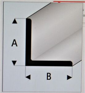 "MAQUETT 416-56/3 WHITE Styrene Angle 4.0mm x 4.0mm / 0.156""x 0.156"" x 330mm X5"