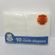 """Gerber Flat Birdseye Cloth Diapers White 10 Count 24"""" x 27"""" New"""