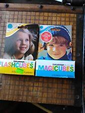 Vtg Sylvania Flashcubes Blue Dot  Unopened 2 box Olympics 1976 boy and girl