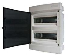 Tableau électrique encastré 24 modules 2 rangées avec porte translucide teintée