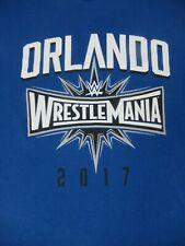 WRESTLE MANIA ORLANDO 33 2017 -BLUE LARGE T-SHIRT - A2450