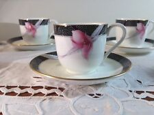 Mikasa Cosmo CAE02 Demitasse Cup and Saucer Set of 7 EUC