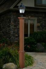 "Decorative Vinyl Outdoor 72"" TRINITY Lamp Post Pole w/10 Year Warranty!"