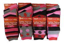Heatwave 12 Pairs Of Ladies Design Thermal Socks, Warm Winter Boot Socks, 4-7