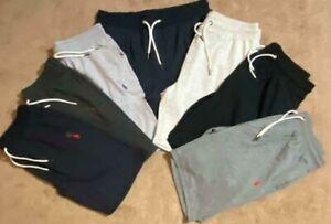 "Polo Ralph Lauren  Men  9.5"" Sweat Terry Cotton Shorts Black Navy Gray"