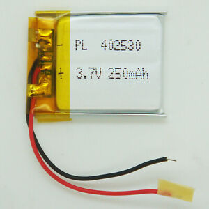 402530 Lithium Polymer Li-Po Rechargeable Battery 30mm x 25mm x 4mm For Dash Cam