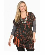 Cap Sleeve Tunic Geometric Tops for Women