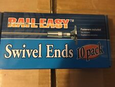 NIB ATLANTIS RAIL EASY STAINLEES STEEL SWIVEL ENDS 10 PACK C0981-S104