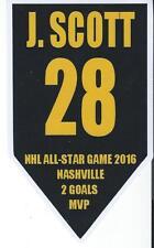 """2016 NHL All Star Game - Banner Sticker 4 1/4"""" X 2 1/2"""" JOHN SCOTT MVP - AHL"""