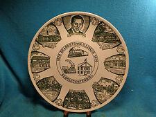 """1979 Vtg 10-1/8"""" Kettlesprings Kilns Beardstown Illinois Information State Plate"""