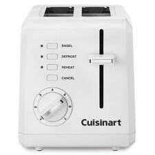 100% GENUINE!!! Cuisinart CPT-122 2-Slice Compact Plastic Toaster (White) NEW!!!