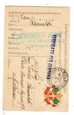 WW1 Posta Militare   3° REGG. ALPINI BATT. FENESTRELLE 4 ° SEZ. MITRAGLIATRICI