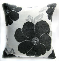 Olive Leaf Embroidered Chenille Throw Pillow CASE//Cushion COVER*Size wh04a Gray