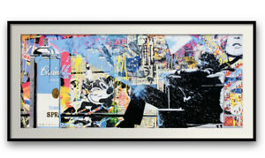 """MR BRAINWASH """"SPRAY"""" OFFSET LITHOGRAPH ON PAPER PLATE SIGNED FRAMED"""