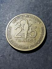 1957 French West Africa 25 CFA Francs (Togo) Coin #9009
