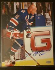 Mark Messier Signed NY Rangers Captain 8x10 Photo STEINER Auto