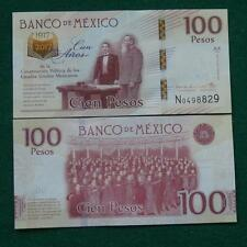 2016 MEXICO 100 pesos note Mexican 1917-2017 100 anniv. Constitution CRISP