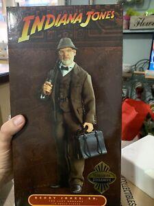 "Sideshow Indiana Jones Last Crusade Henry Jones,S R. 1/6 12""Figure MIB Exclusive"